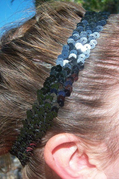 Dark Silver Sequin Headband