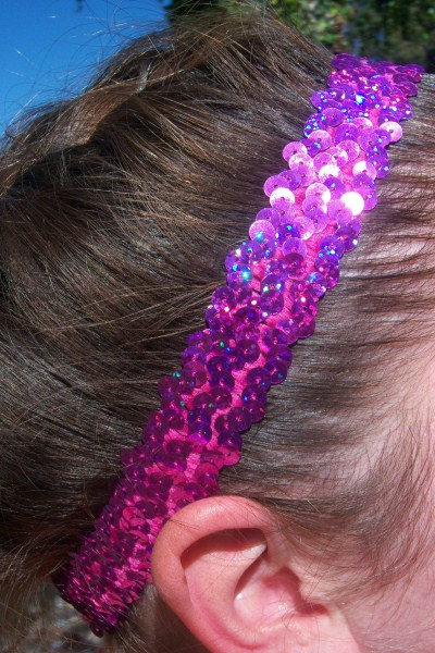 Hologram Pink Sequin Headband