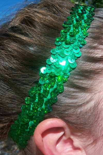 Hologram Green Sequin Headband