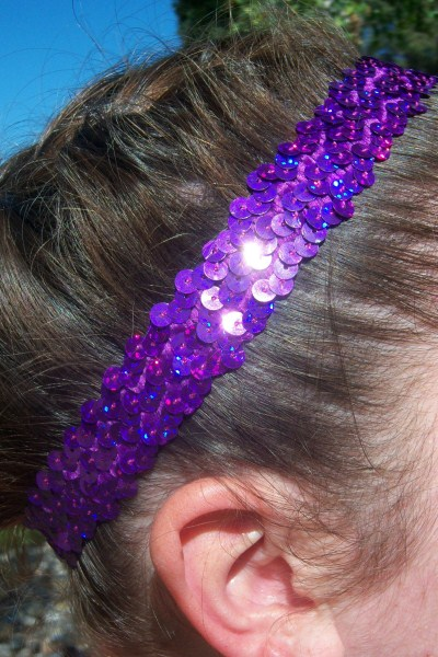 Hologram Purple Sequin Headband
