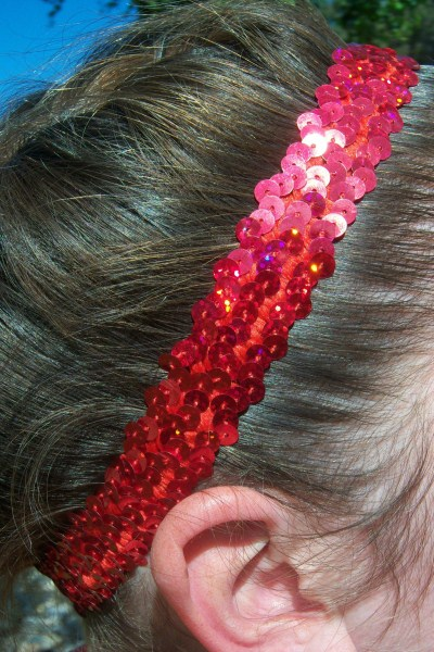 Hologram Red Sequin Headband
