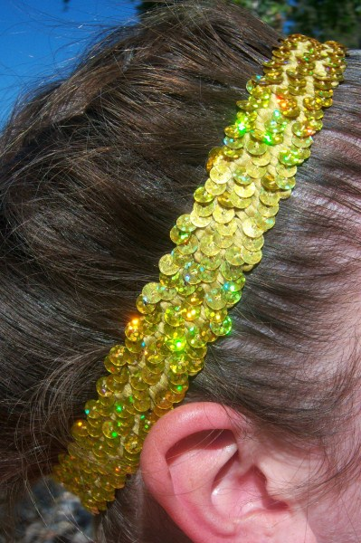 Hologram Power Yellow Sequin Headband