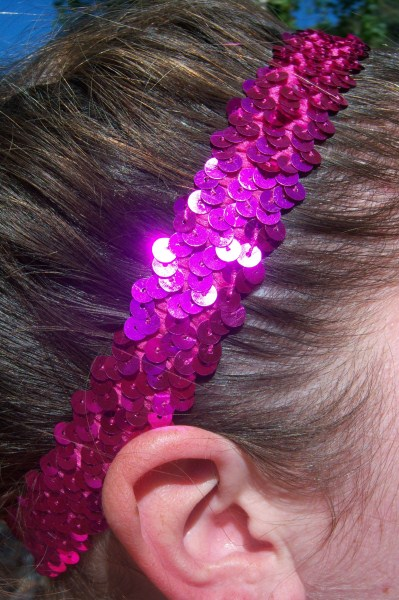 Hot Pink Sequin Headband