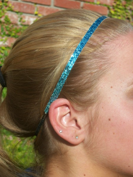 Light Blue Glitter Skinny