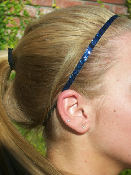 Navy Blue Glitter Skinny