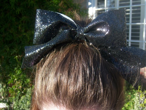 Custom Black Glitter Bow