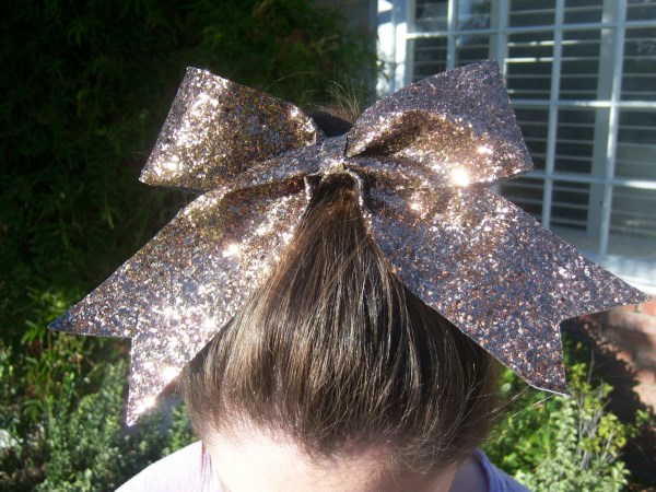 Custom Brown Glitter Bow