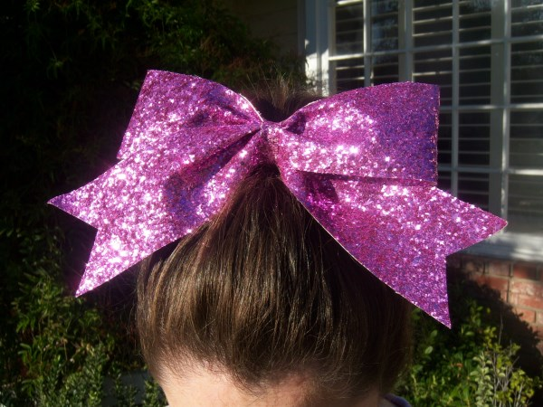 Custom Candy Pink Glitter Bow