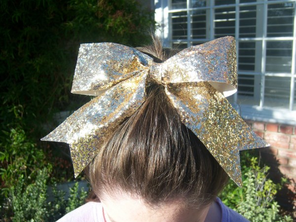 Custom Gold Glitter Bow