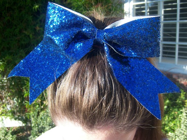 Custom Navy Glitter Bow