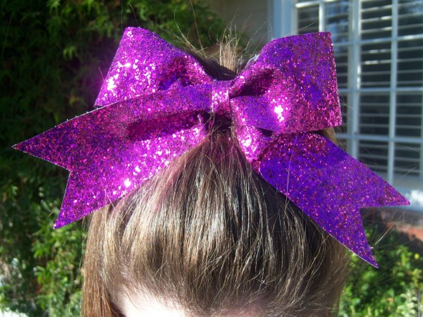Custom Purple Glitter Bow