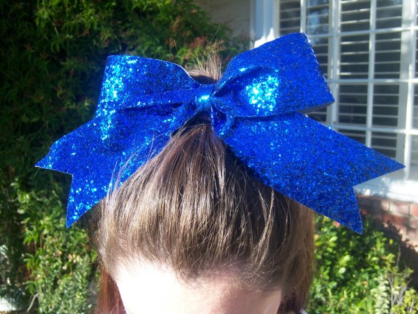 Custom Royal Blue Glitter Bow