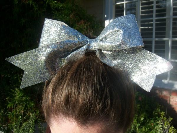 Custom Silver Glitter Bow