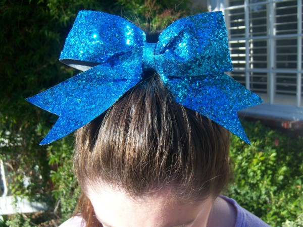 Custom Teal Glitter Bow