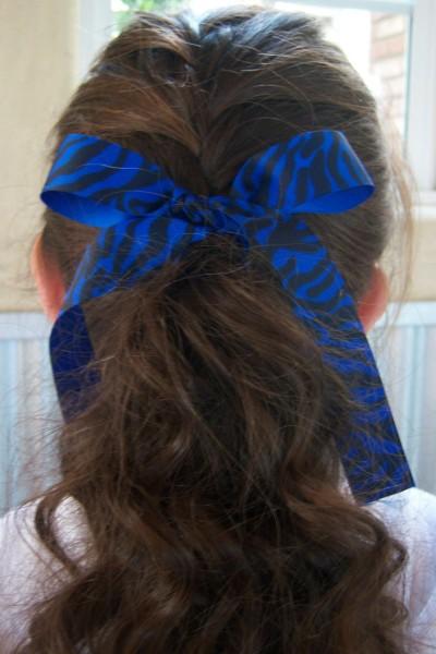 Blue Zebra Ribbon