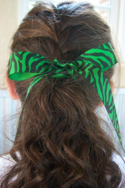 Green Zebra Ribbon