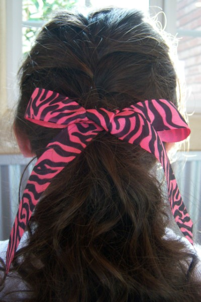 Hot Pink Zebra Ribbon