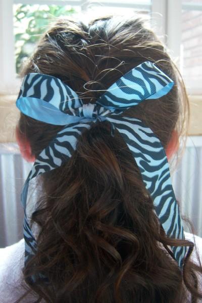 Columbia Blue Zebra Ribbon