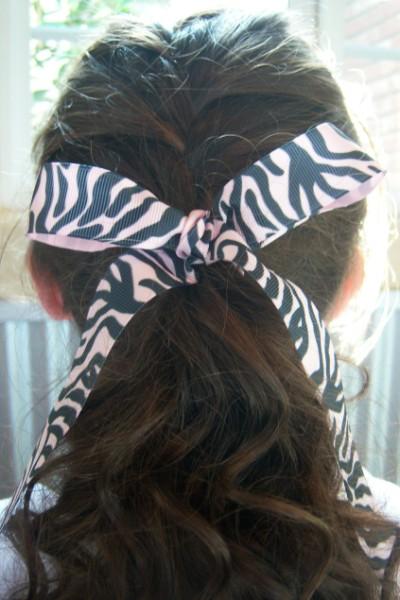 Light Pink Zebra Ribbon