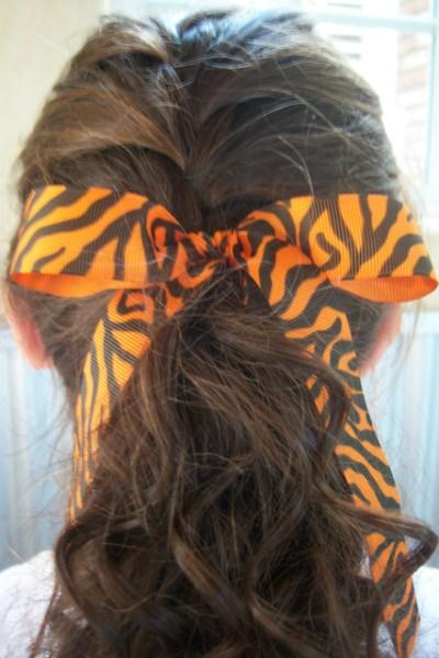 Orange Zebra Ribbon