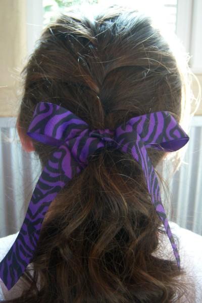 Purple Zebra Ribbon