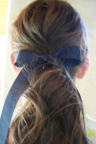 Navy Blue Zebra Ribbon