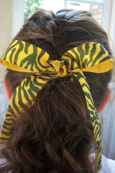 Yellow Zebra Ribbon